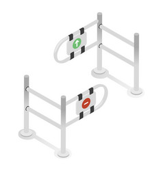 turnstiles gate input metal stand checkpoint vector image