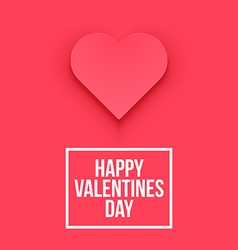 Valentines Day heart Isolated vector image