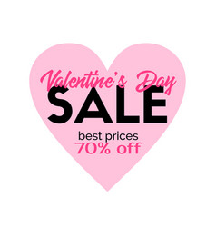 Valentines day sale promotional sticker vector