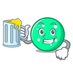 with juice circle mascot cartoon style vector image