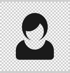 woman sign icon in transparent style female vector image