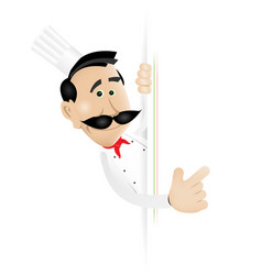 Chef cook blank sign vector