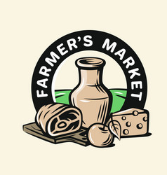 farmers products vector image vector image