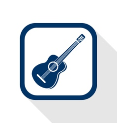 guitar flat icon vector image vector image
