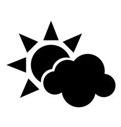 sun cloud weather symbol pictogram vector image vector image