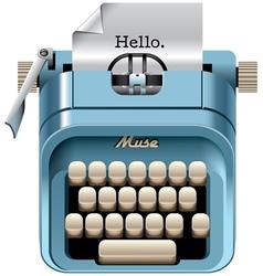 Vintage mechanical desktop typewriter vector image