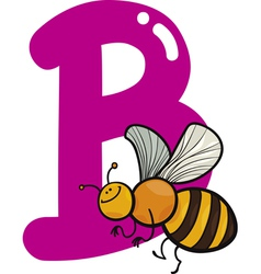 B for bee vector image vector image