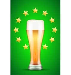 Beer and gold stars vector
