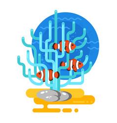 flat style of aquarium vector image