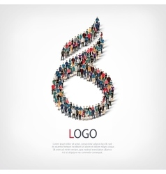logo people sign 3d vector image