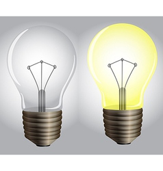 On and off lights vector image