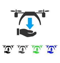 unload drone flat icon vector image