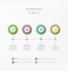 abstract element for business strategy vector image vector image