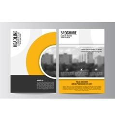 Abstract flyer design background Brochure vector image vector image