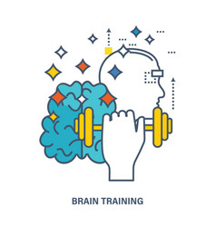 Concept of creative design and brain training vector