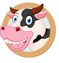 cow cartoon or mascot vector image