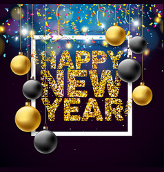 Happy new year 2018 with shiny vector