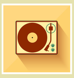 Retro turntable vinyl record player vector image vector image