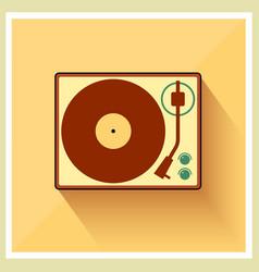 Retro turntable vinyl record player vector image vector image