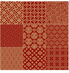 seamless Chinese traditional mesh pattern vector image vector image