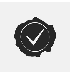 Stamp Check Mark vector image vector image