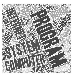 adware spyware uninstall Word Cloud Concept vector image