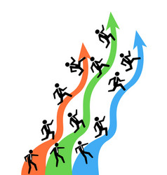 businessman running on up arrows vector image vector image