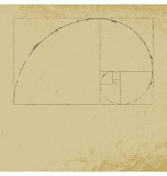 Fibonacci vector image