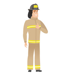 firefighter giving thumb up vector image