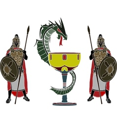 Holy grail and guardians vector