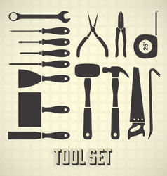 Tools Silhouette Set vector image vector image