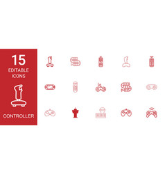 15 controller icons vector image