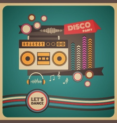 271boombox disco party vector