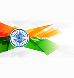 Abstract indian flag in geometric shape style vector