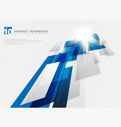 abstract perspective technology geometric blue vector image