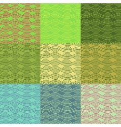 Abstract seamless pattern collection in retro vector image