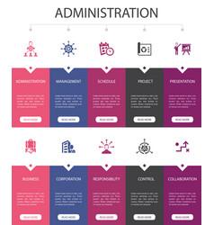 Administration infographic 10 option ui design vector