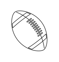 American footbal ball sport equipment vector