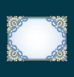 Background frame with ornaments made precious vector