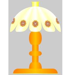 Bedside lamp vector image
