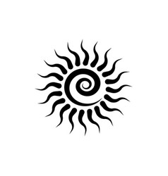 Black tribal sun tattoo sonnenrad symbol isolated vector