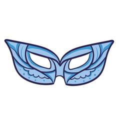 blue mask on white background vector image