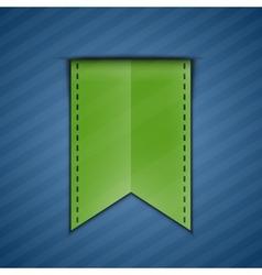 Bookmark decoration ribbon vector image