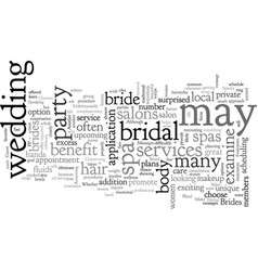 Brides what a day spa salon can do for you vector