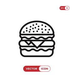Burger icon hamburgercheeseburger symbol vector