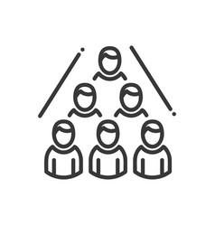 Business network- modern line design vector