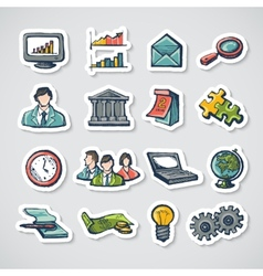 Business Stickers Set vector image