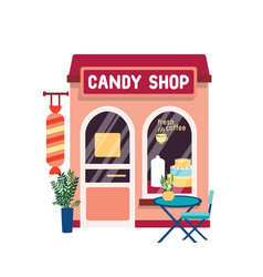 candy shop flat confectionery vector image