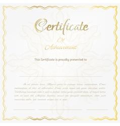 Certificate background vector