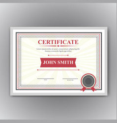 Certificate diploma completion vector